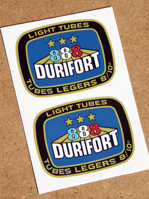 DURIFORT '888' LIGHT TUBES Cycle Bike Frame Decals Stickers metallic ink