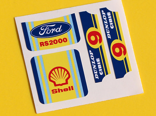 MATCHBOX SUPERFAST No.9 ESCORT RS2000 'Shell' sticker decal reproductions
