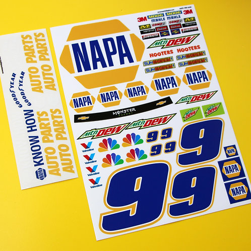 RC Nascar 'NAPA' number 9 stickers decals Tamiya Xray TC5 Kyosho