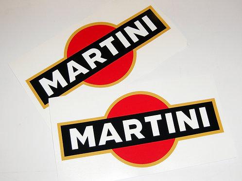 LE MANS MARTINI retro stickers decals 20cm logos x2
