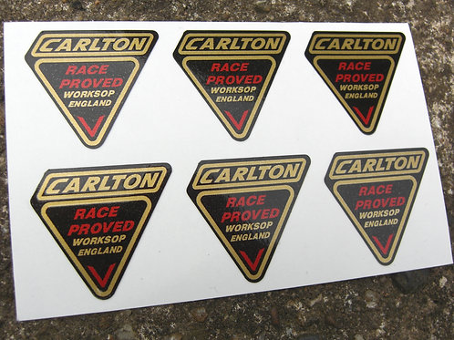 CARLTON style Vintage Cycle Fork Frame Decals Stickers