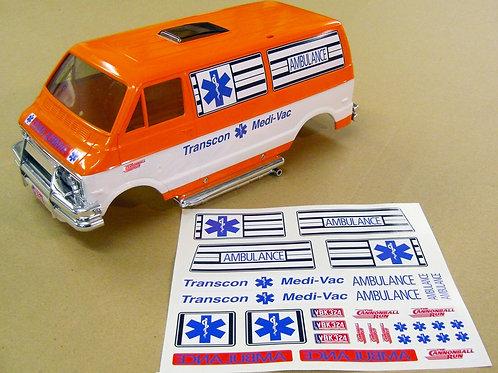 RC 'TRANSCON MEDI-VAC CANNONBALL RUN AMBULANCE' Lunch Box stickers decals