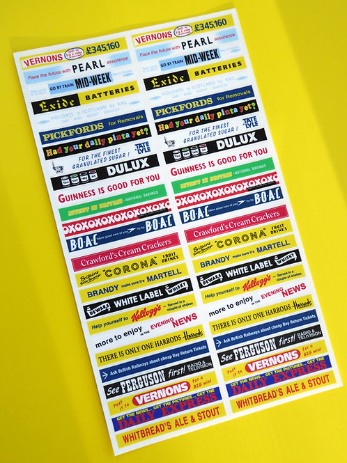 DINKY BUS 290 29c vintage advertising CODE 3 stickers decals HO OO 76th Scale