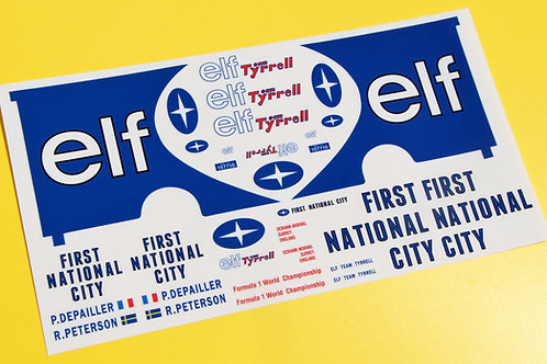 ELF TYRREL Race Team Transporter SLOT CAR 32nd SCALE Decals Stickers SCALEXTRIC