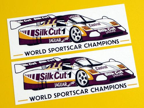 Vintage Classic JAGUAR World Sportscar Champions 1988 XJR9 retro style stickers