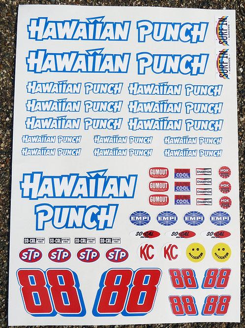 RC Vintage BAJA RACER HAWAIIAN PUNCH Decals stickers Sand Scorcher