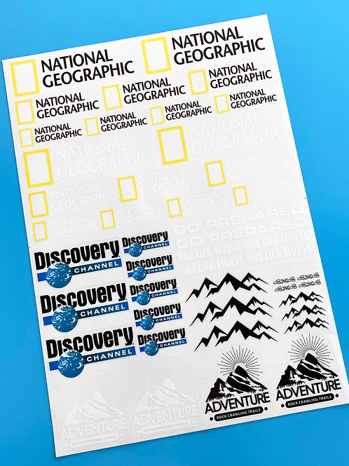 RC Rock Crawler 'DISCOVERY NAT GEO' 18th scale stickers decals RC4WD D90