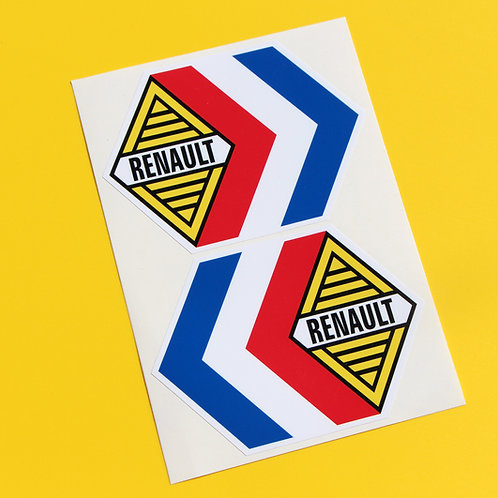 RENAULT logo vintage classic retro stickers Renault 5 4CV Alpine A110