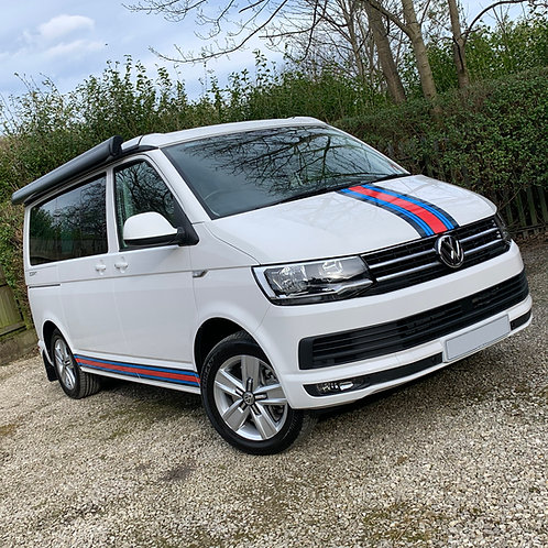 Campervan MARTINI SIDE and FRONT STRIPES sticker set ideal for VW T5 T6