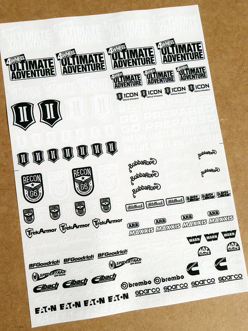 RC ROCK CRAWLING 10th scale 'ULTIMATE ADVENTURE' RECON Decals stickers