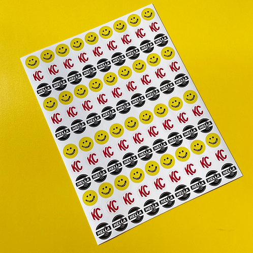 10th scale Spot Lights retro vintage RC stickers decals