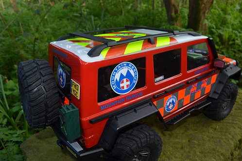 RC Rock Crawler 'MOUNTAIN RESCUE' 4x4 10th scale stickers decals