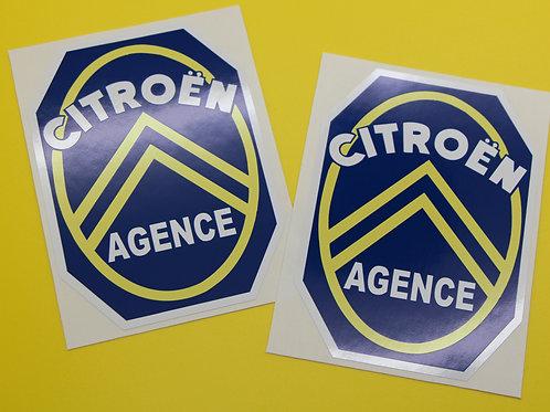 CITROEN CLASSIC AGENCE stickers 2CV, DS, AMI, SM, Traction Avant, Dyane, Mehari