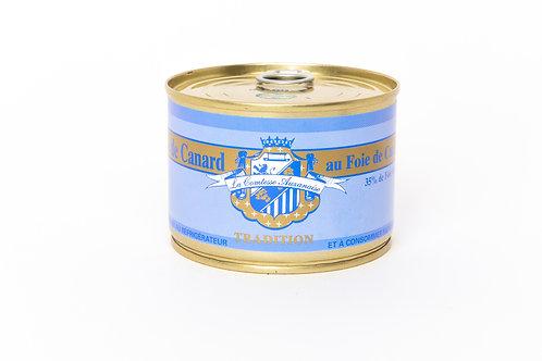 Pâté au foie de canard Tradition (35% Foie Gras) - 5 personnes (270g)
