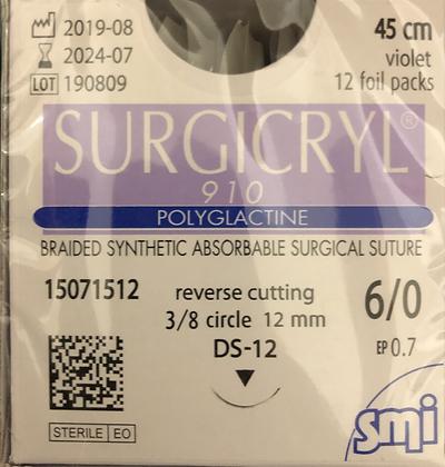 Surgicryl - Riassorbibile 6/0
