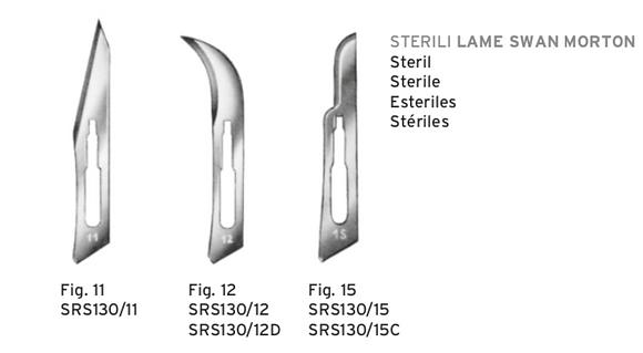 Confezione 100 pezzi - Lame sterili