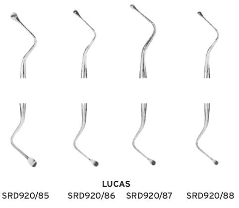 Cucchiai alveolari Lucas