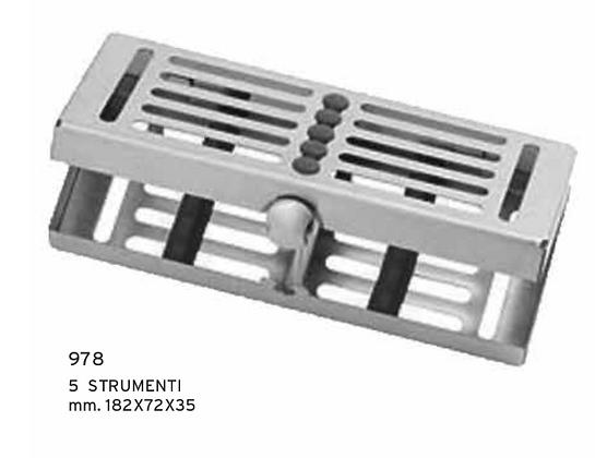 978 - Vassoio 5 strumenti