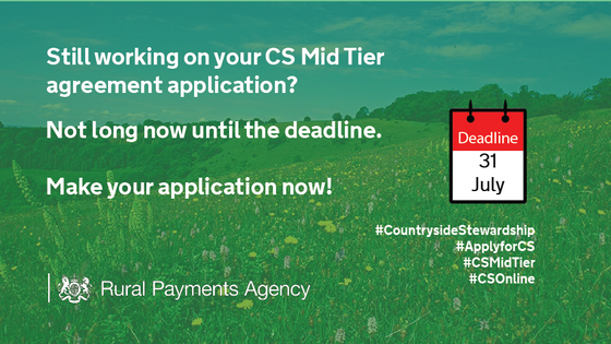Countryside Stewardship Mid Tier Deadline Fast Approaching!