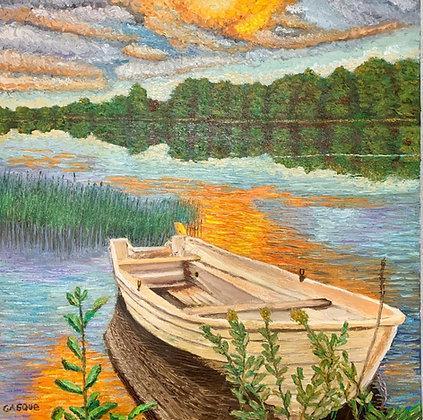 Barca en la laguna