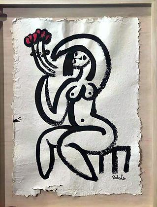 Mujer en flores