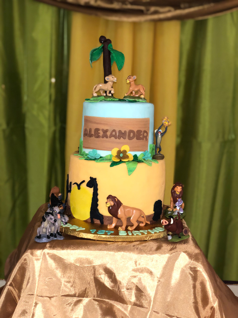 Lion King Themed 1st Bday Cake