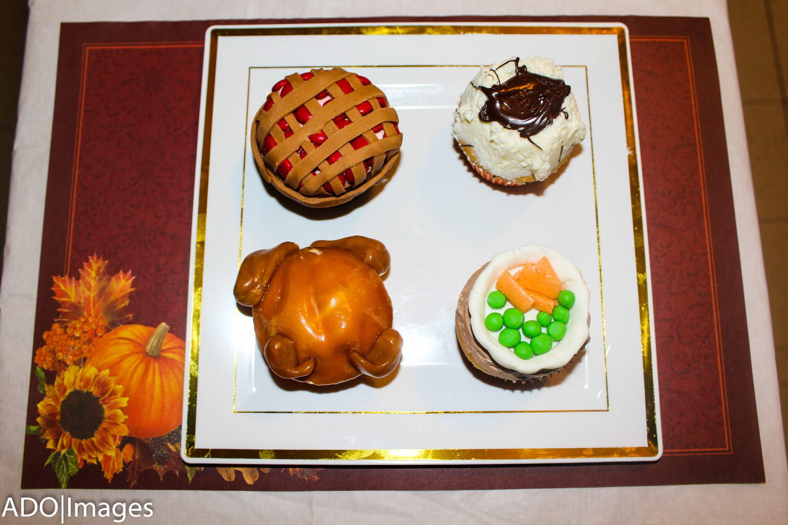 Thanksgiving Plate Cupcakes