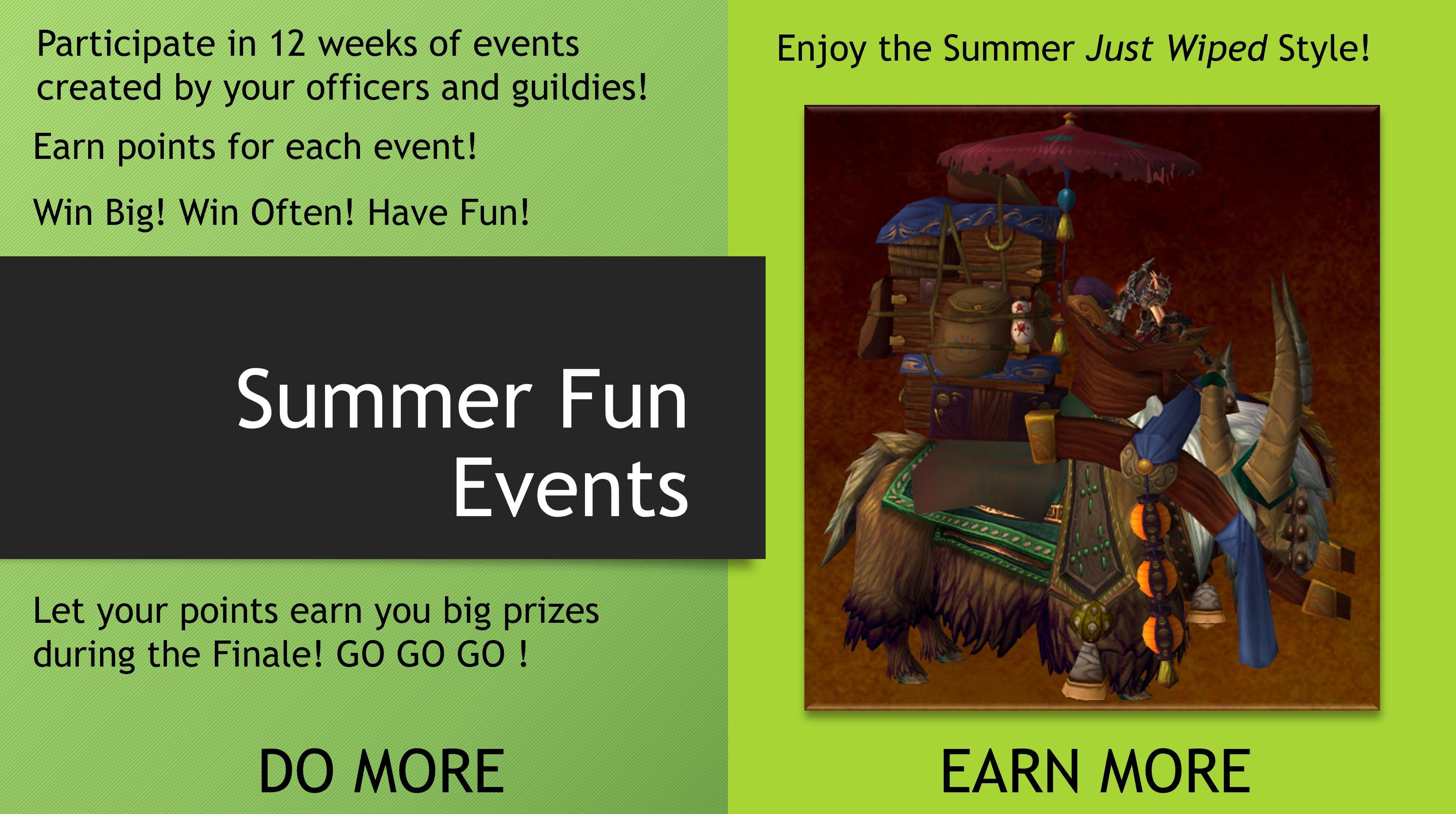 Summer Fun Events Advert