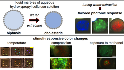 Photonic Responsive Liquid Mables