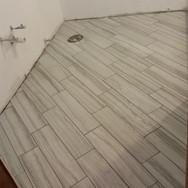 Diagonal Tile Install