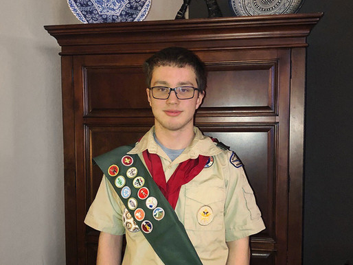 Teen Raises Awareness about AIH for his Eagle Scout project