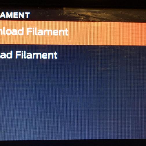 3d print- unload filament