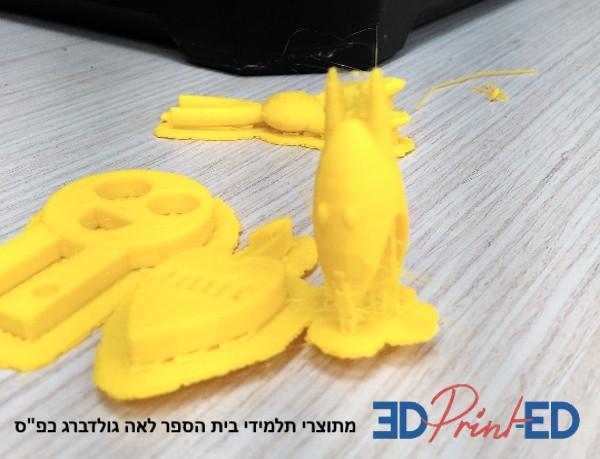 הדפסת תלת מימד בבית ספר לאה גולדברג כפר סבא