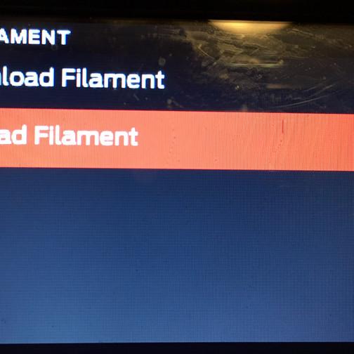 3d print- load filament