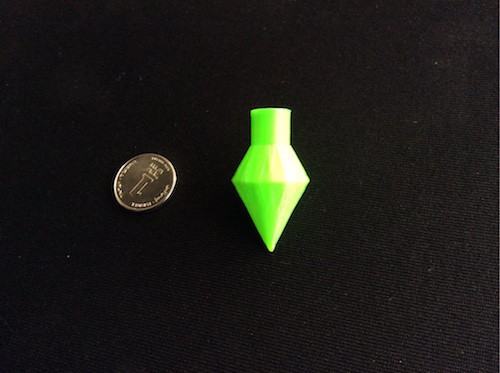 3dprined-green-spinning-top