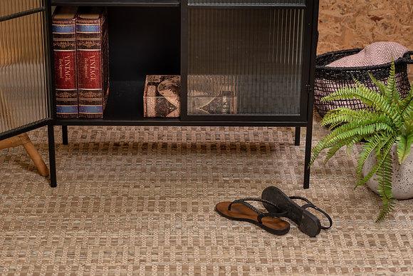 שטיח חבל משולב עור 2