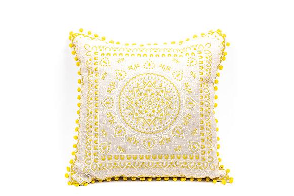 כרית הודית צהובה כריות לסלון צהוב עיטורים ריהוט אונליין