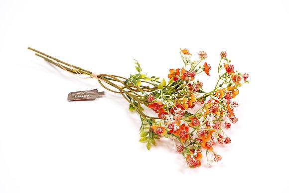 פרחים מלאכותיים פרחים כתומים עיצוב הבית אונליין