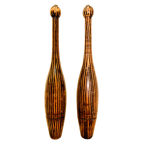 Antique Wooden Juggling Pins, Bowling Pins