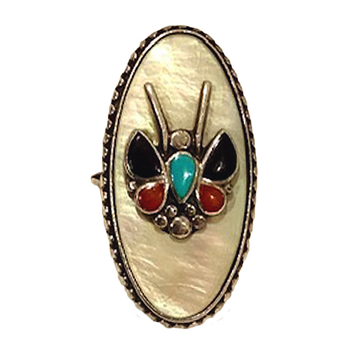 Native American Mother of Pearl Ring