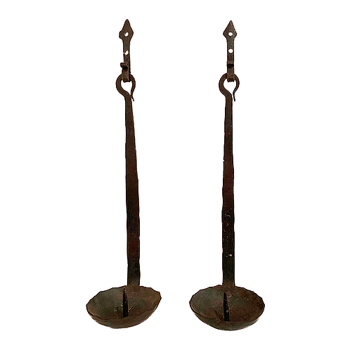 Vintage Wrought Iron Wall Sconces