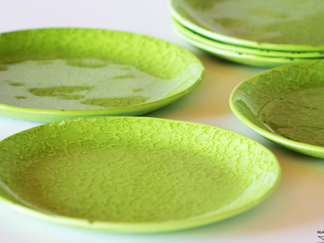 GREEN MOON, Glass dishes