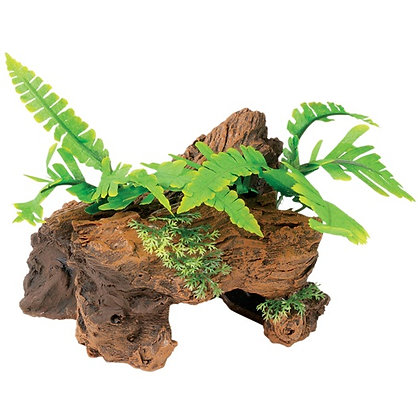 Marina Naturals Malaysian Decorative Driftwood with Plants, Large