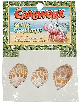 Crabworx Shells, small, 3 pieces