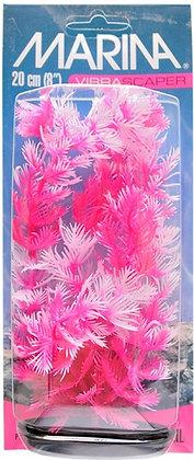 "Marina Vibrascaper Plastic Plant, Foxtail Hot Pink-White 8"""