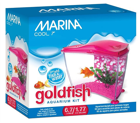Marina Cool Pink Goldfish Kit