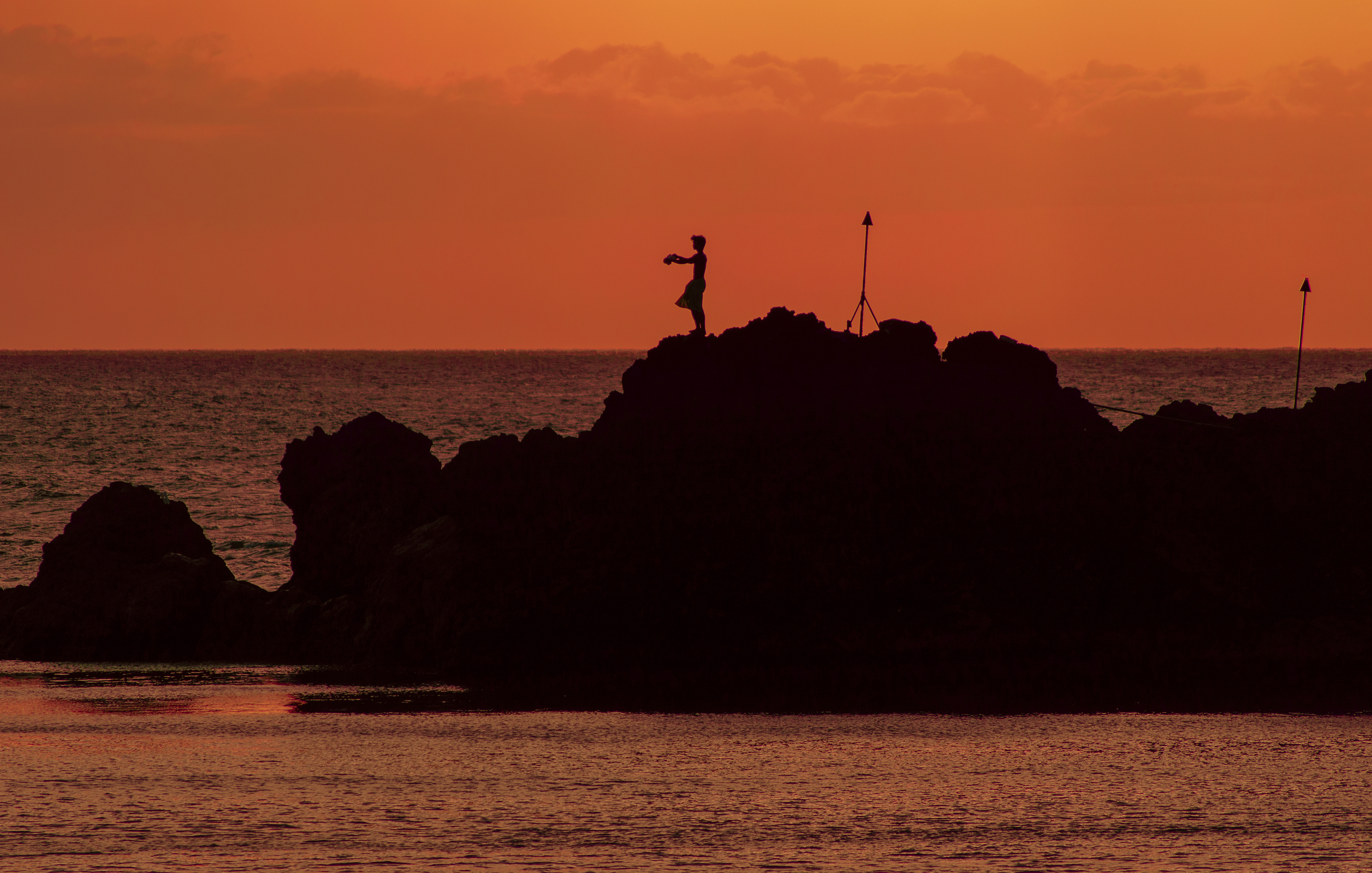 Hawaiian Cliff Diver