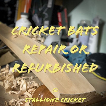 Cricket bat repair or refurbished