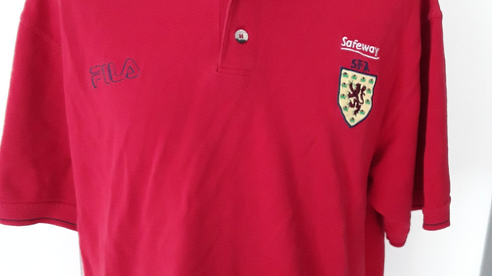 Scotland FA official polo shirt. L