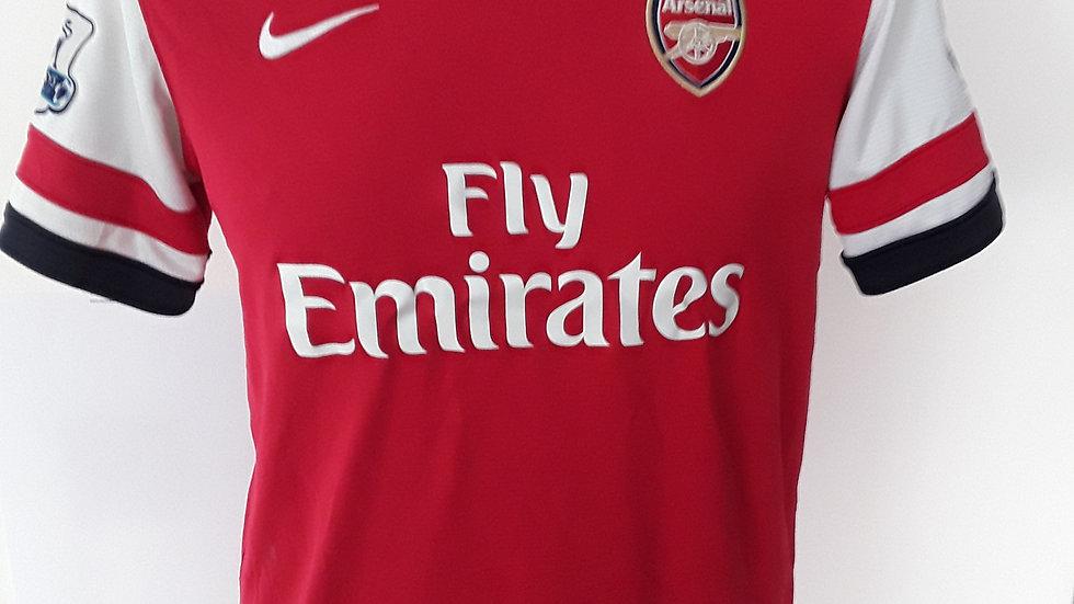 Arsenal FC home shirt.